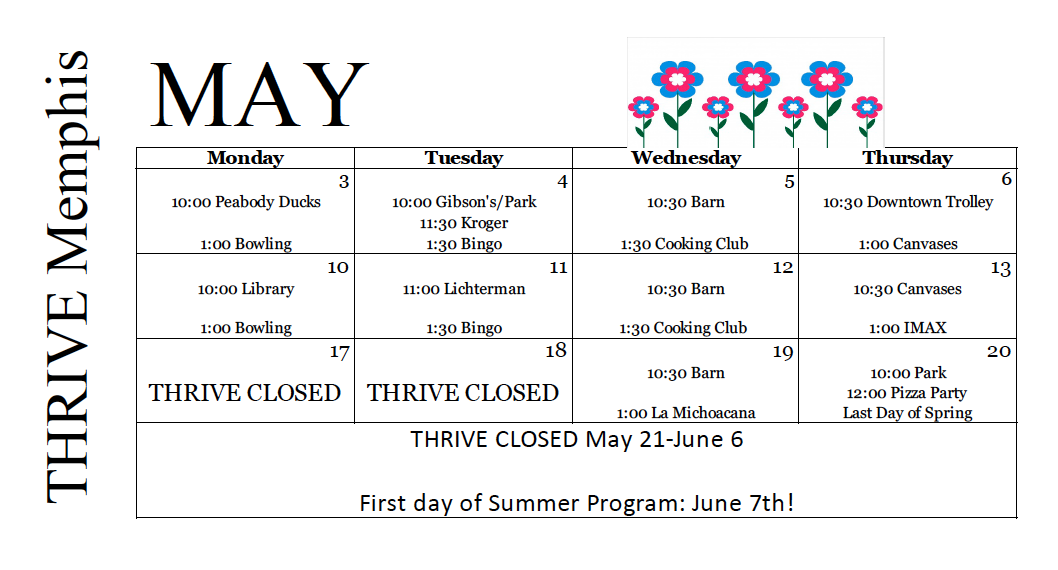 Thrive May 2021 Calendar